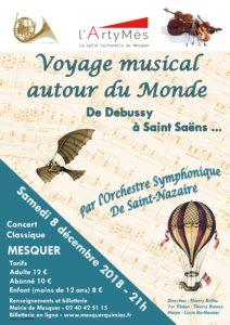 Concert symphonique 'Une envie de voyager' autour du monde de DEBUSSY à SAINT-SAËNS @ Salle l'ArtyMès | Mesquer | Pays de la Loire | France