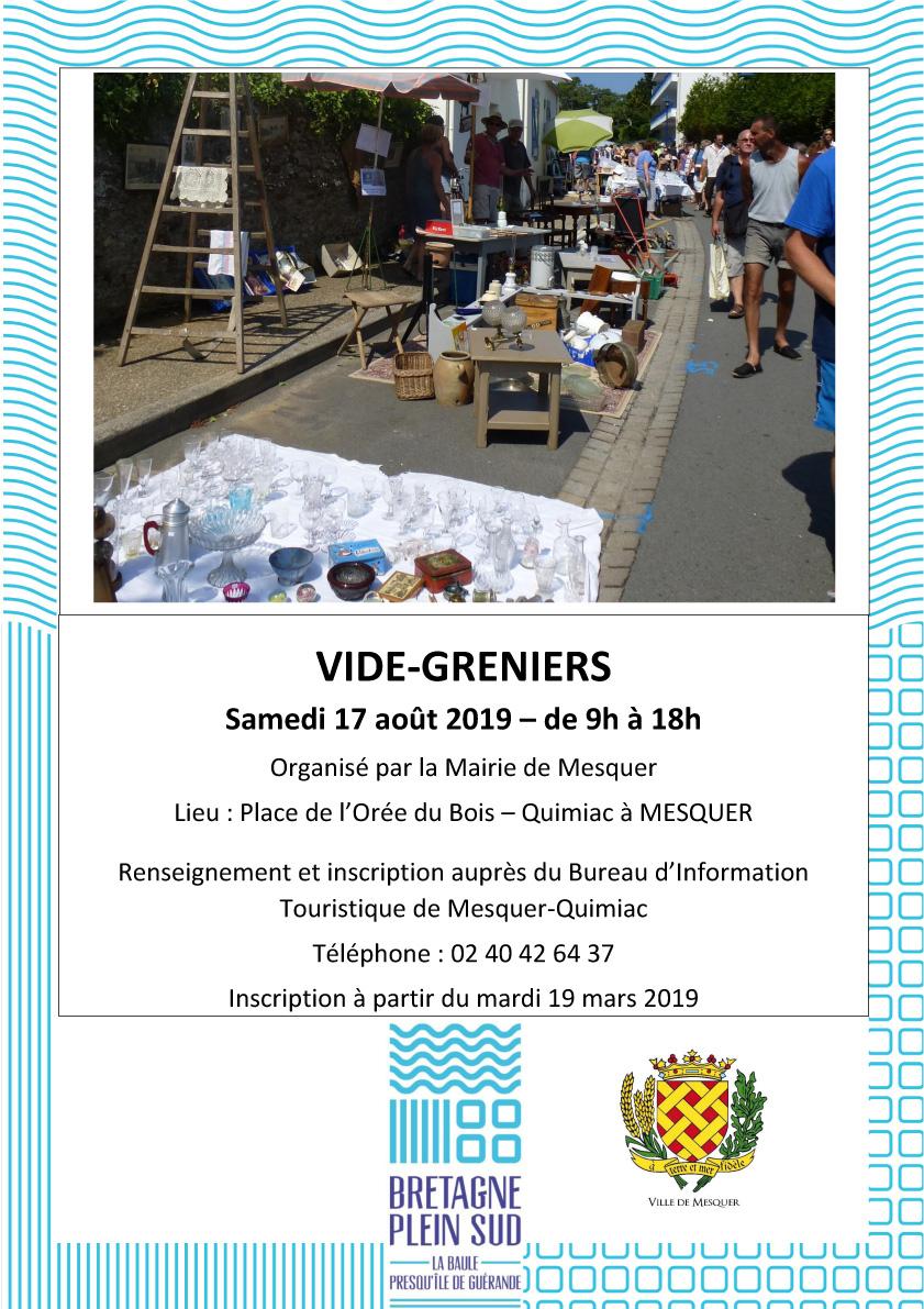 Calendrier Des Vide Grenier 2020.Vide Greniers Estival Quimiac Commune De Mesquer Quimiac